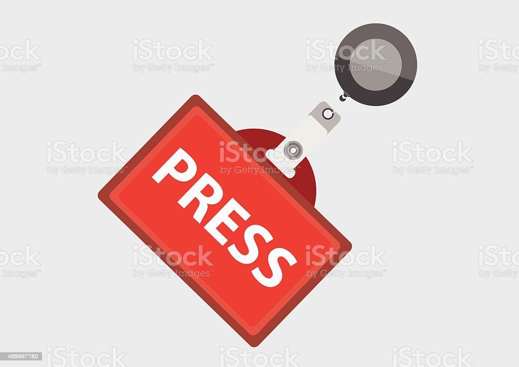 Press Pass ID Card, Vector Illustration vector art illustration