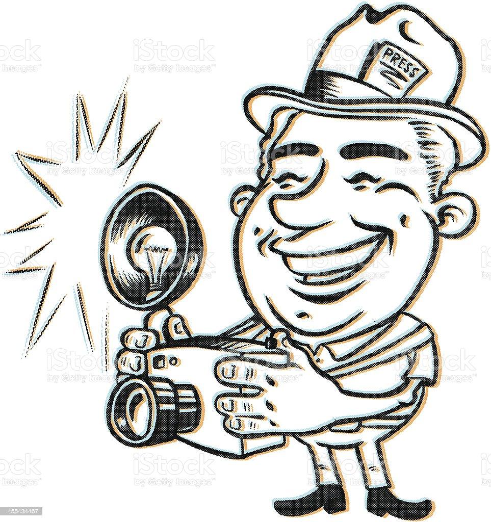 Press Photos Click SNAP PooOOf royalty-free stock vector art