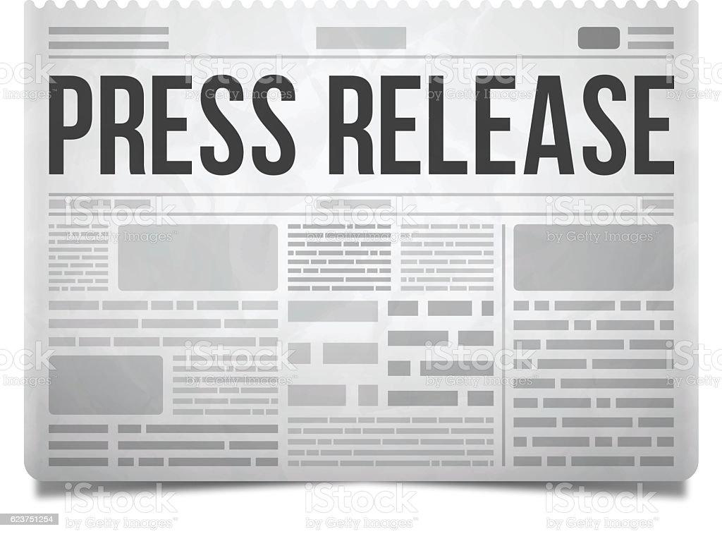 Press Release Newspaper vector art illustration