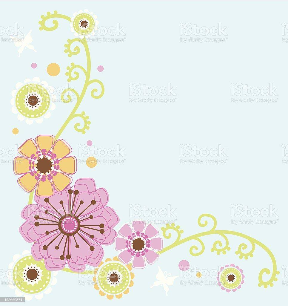Pretty Pastel Flower Border royalty-free stock vector art