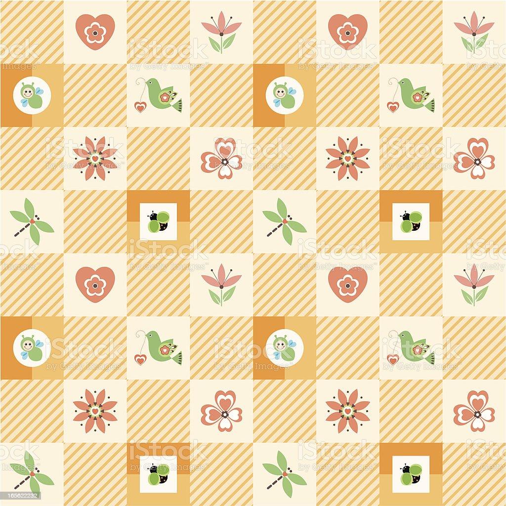 pretty_seamless_orange royalty-free stock vector art
