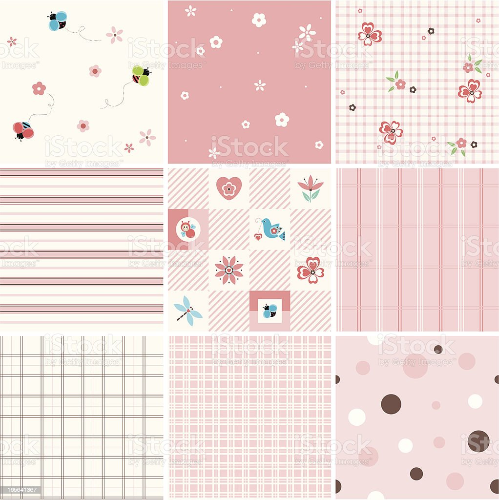 pretty_seamless_pink royalty-free stock vector art