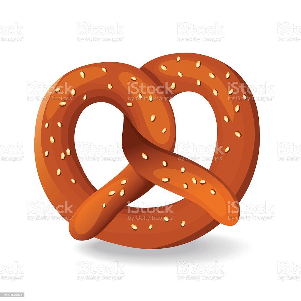 pretzel vector art illustration