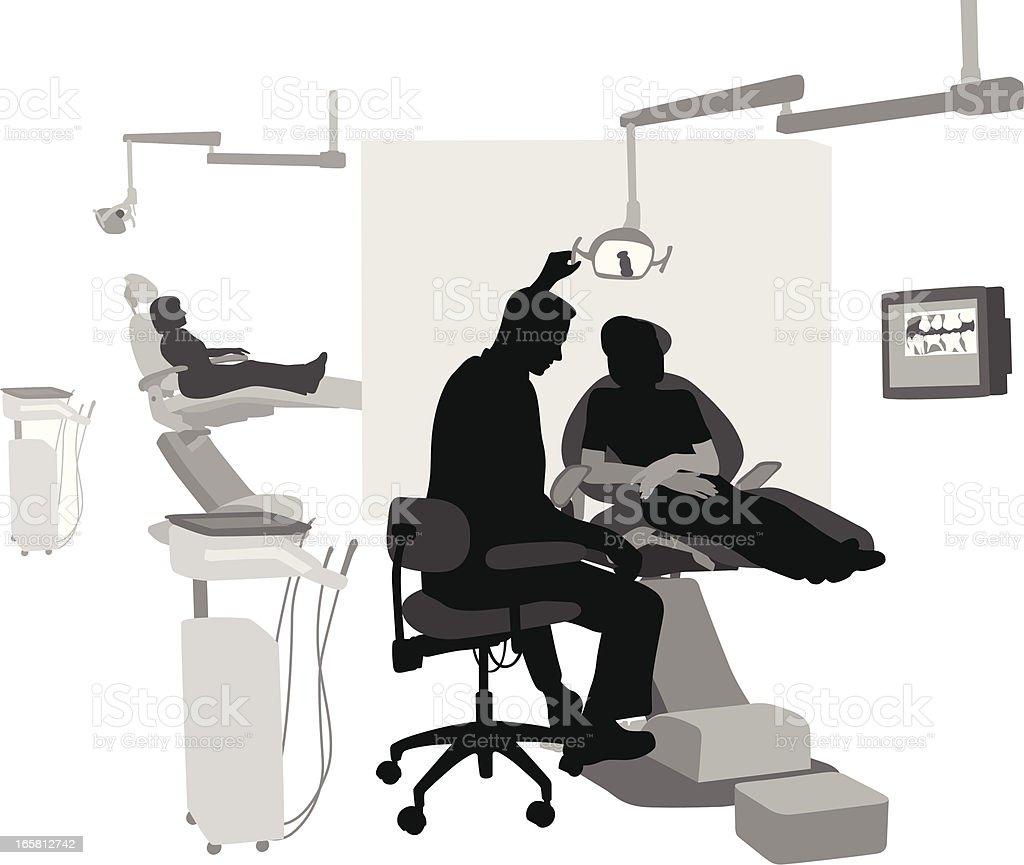 Preventive Vector Silhouette vector art illustration