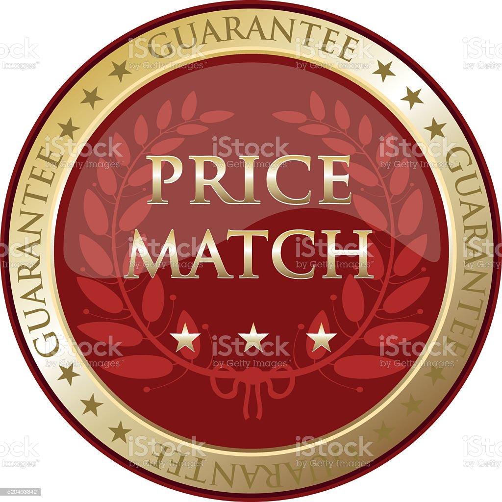 Price Match Guarantee vector art illustration