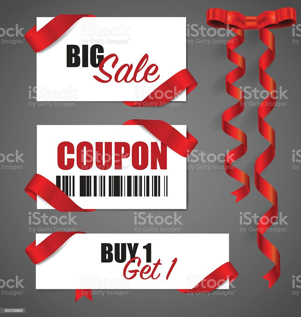 Price tag, sale coupon, voucher. Vector illustration. vector art illustration