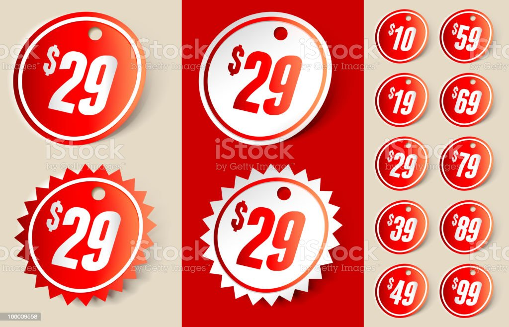 Price Tag Sign Ribbon vector art illustration