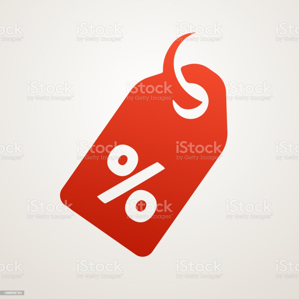 Price Tag with SALE sign vector art illustration