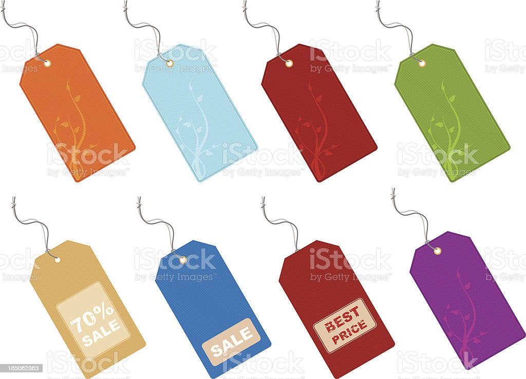 Price tags royalty-free stock vector art