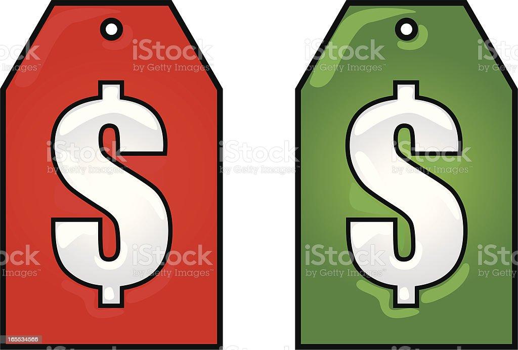 price tags vector art illustration
