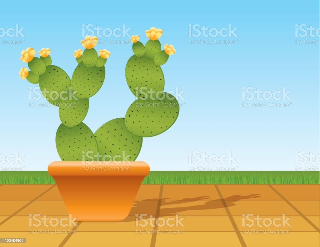 Prickly Pear Cactus royalty-free stock vector art
