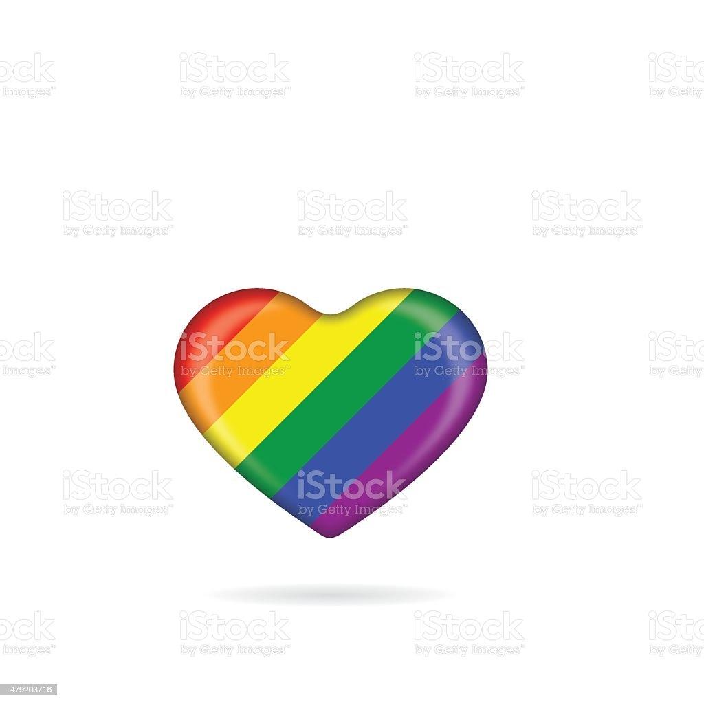 Pride heart icon vector art illustration