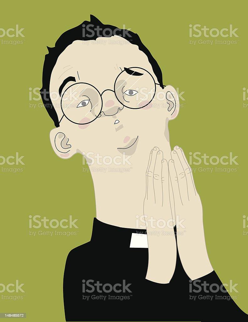 Priest royalty-free stock vector art