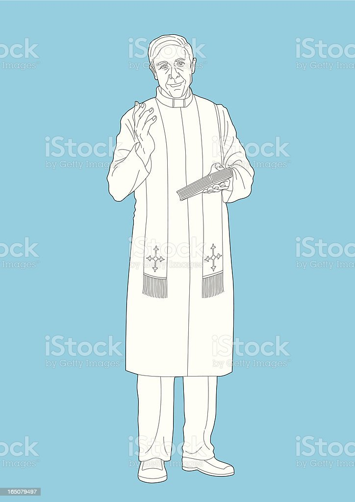Priest royalty-free stock vector art