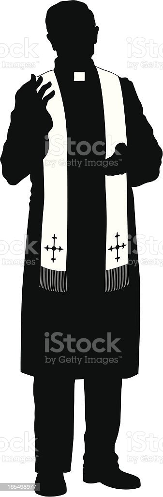 Priest vector art illustration
