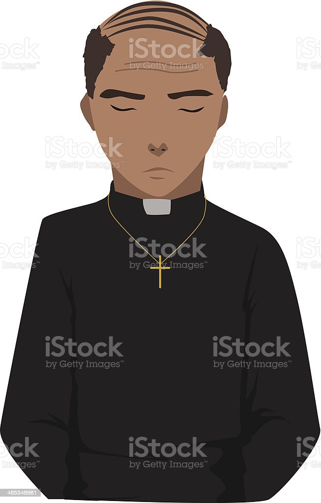 Priest vector vector art illustration
