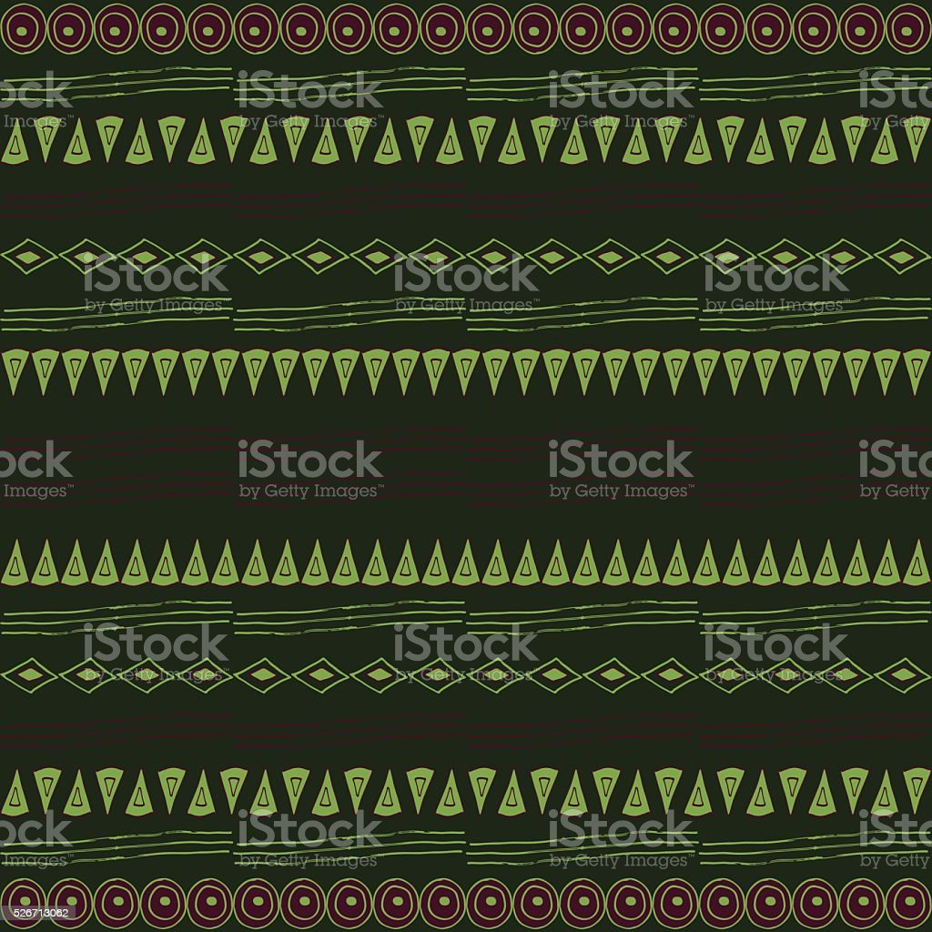 Primal seamless pattern vector art illustration