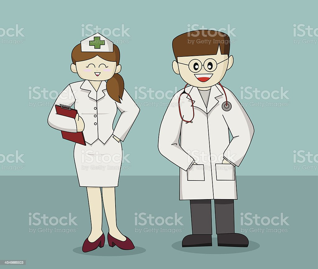 PriMedical Staff royalty-free stock vector art