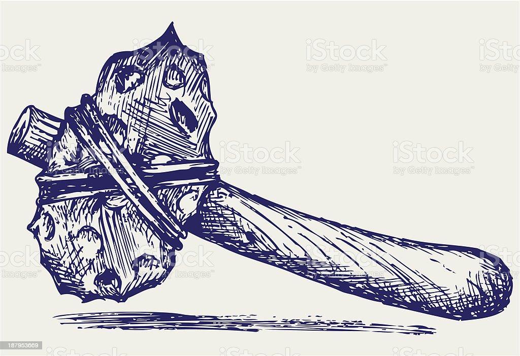 Primitive hammer royalty-free stock vector art