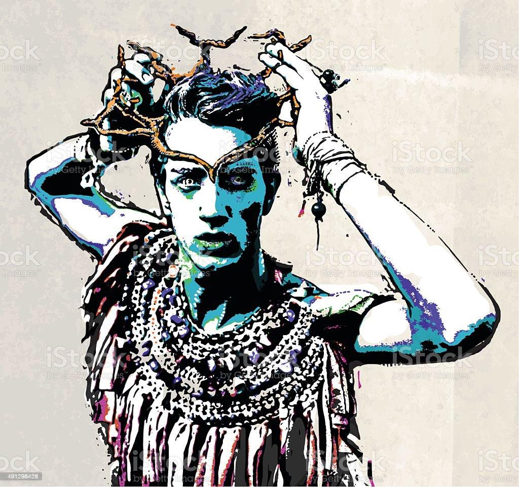 Prince Of The Living Dead vector art illustration