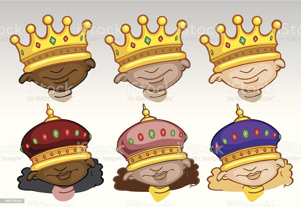 Princes and Princesses royalty-free stock vector art