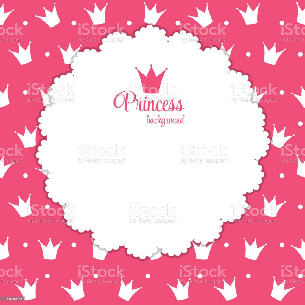 Princess Crown  Background Vector Illustration. royalty-free stock vector art