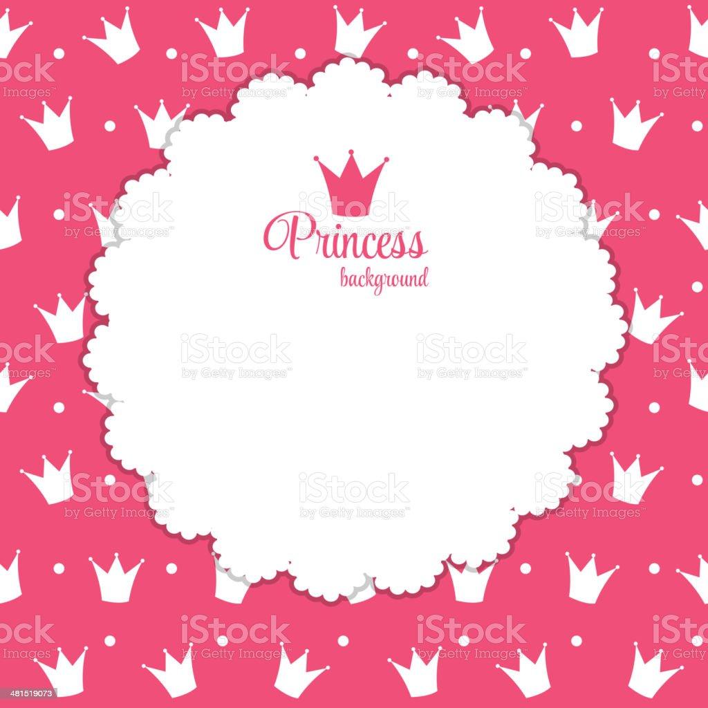 Princess Crown  Background Vector Illustration. vector art illustration