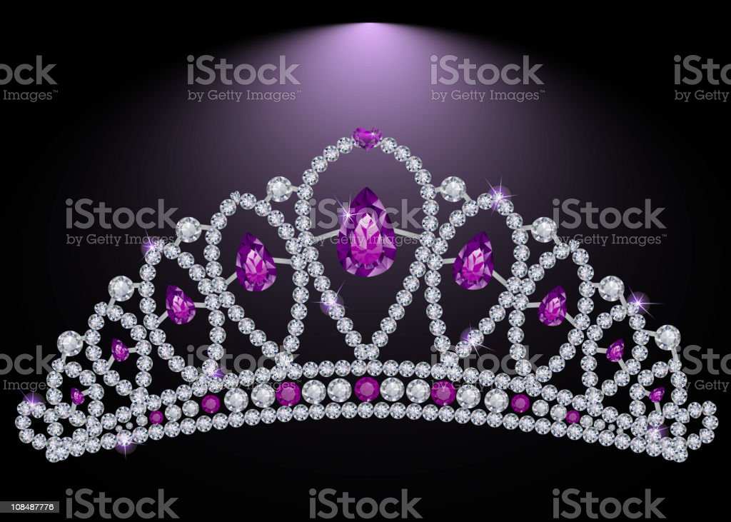 Princess diadem vector art illustration