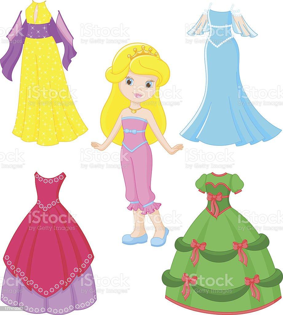 princess dress royalty-free stock vector art