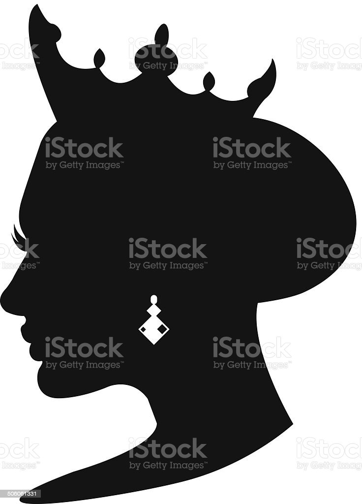 Princess icon vector art illustration