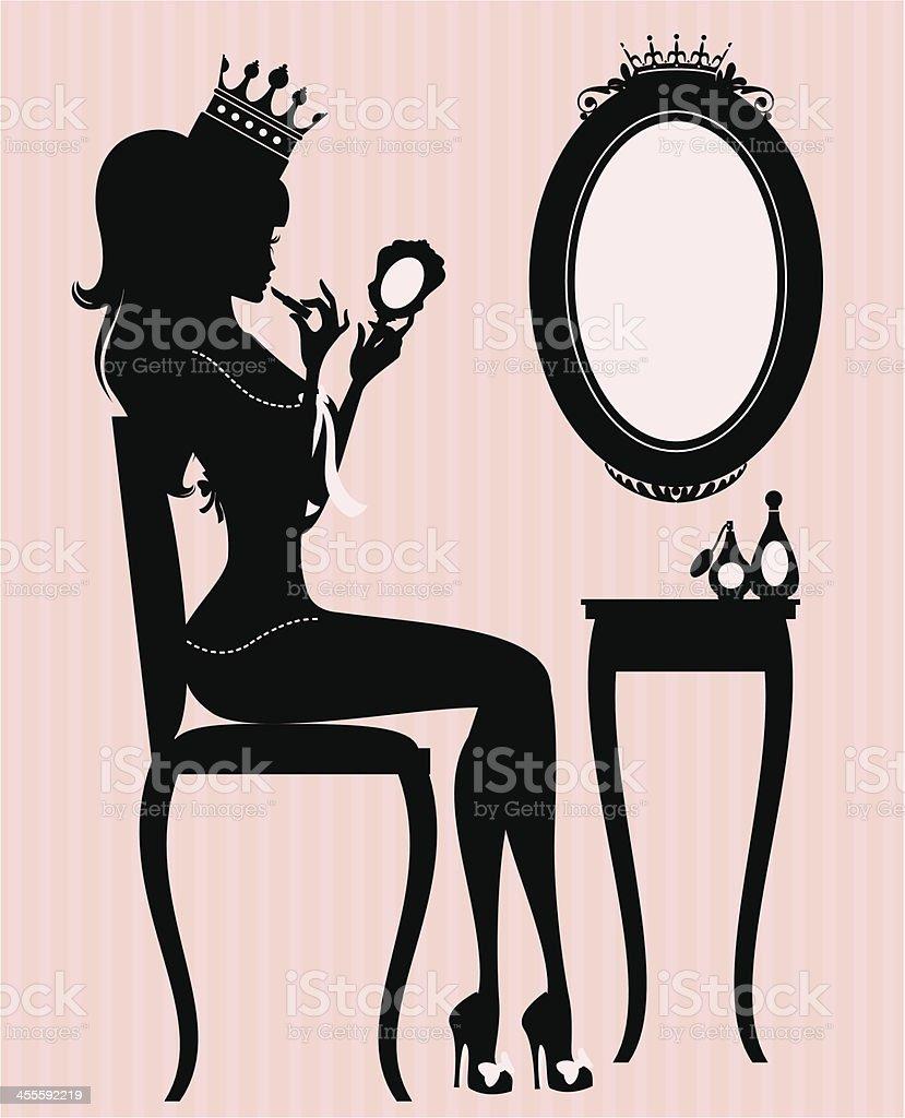 Princess Make Up vector art illustration