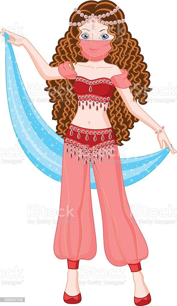 Princess Scheherazade vector art illustration