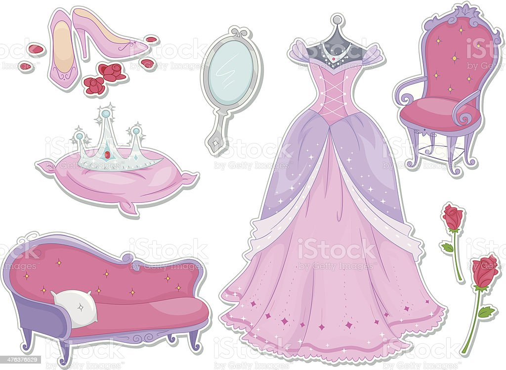 Princess Stickers royalty-free stock vector art