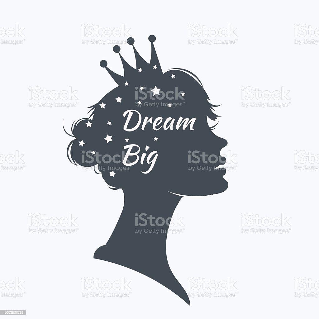 Princess vector art illustration