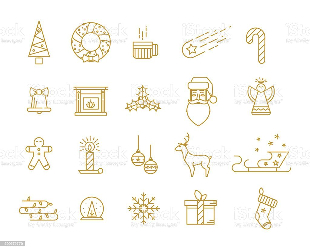 Print for Christmas decorations vector art illustration