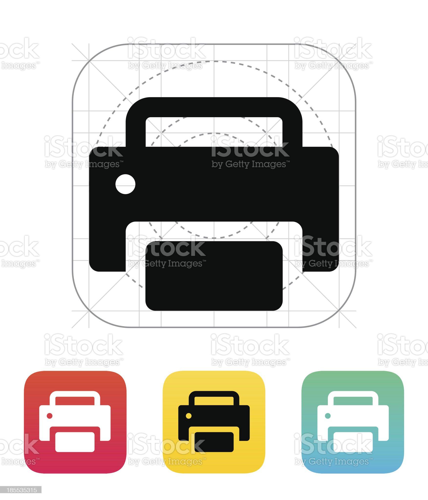 Print icon. royalty-free stock vector art