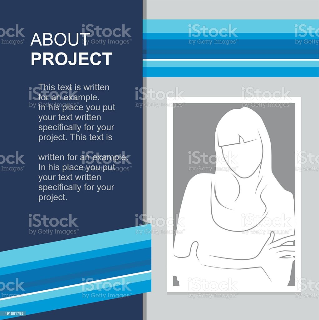 print template with photo insert. Vector illustration vector art illustration