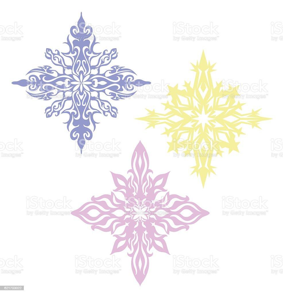Print Three Stars vector art illustration