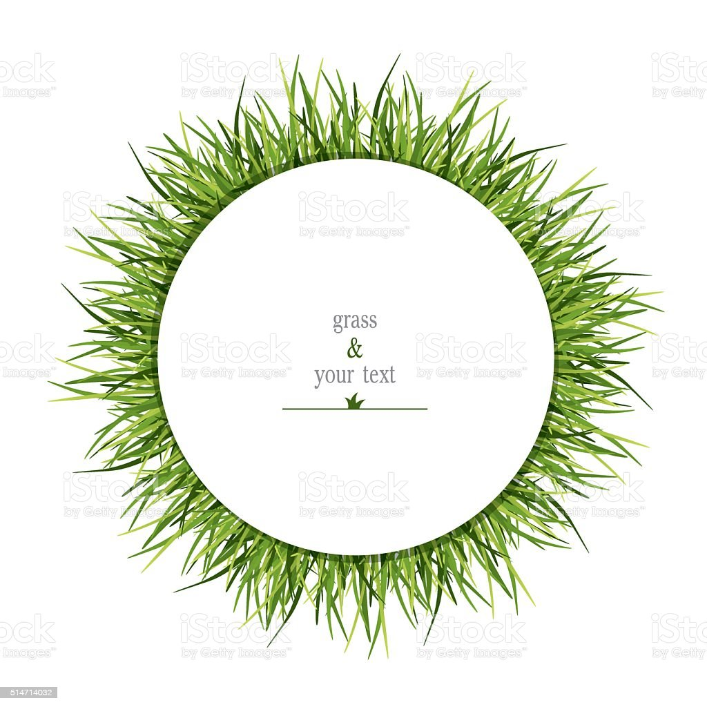 print with the herbal circle vector art illustration