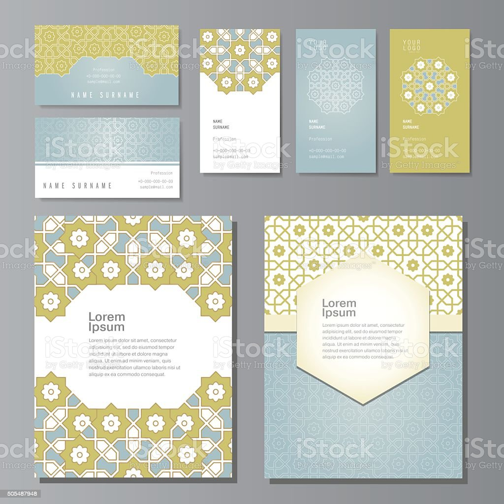 PrintBanners and visit cards set vector art illustration