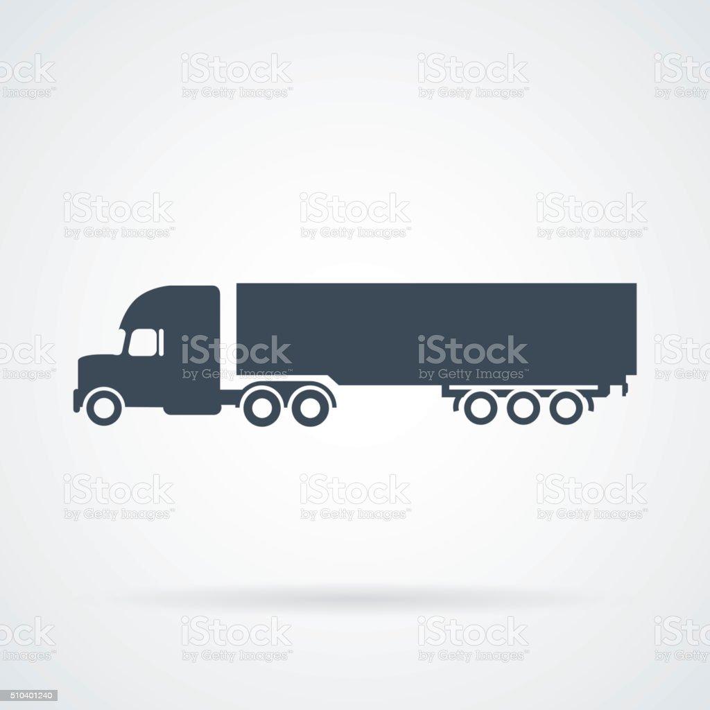 PrintBig Truck Icon Vector vector art illustration