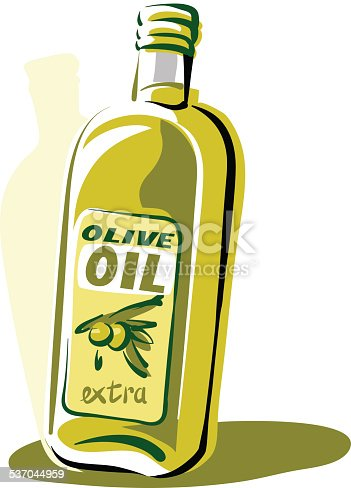 Printbottle Of Olive Oil stock vector art 537044959 | iStock