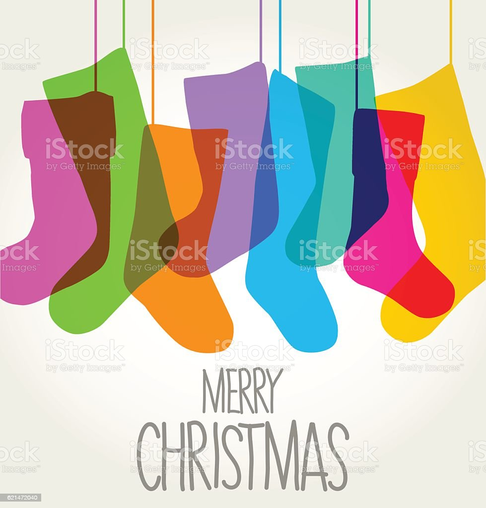 PrintChristmas Stockings vector art illustration