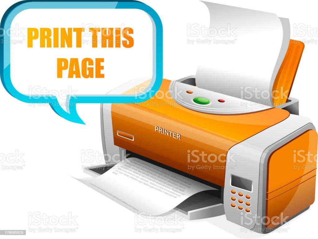 Printer and speech royalty-free stock vector art