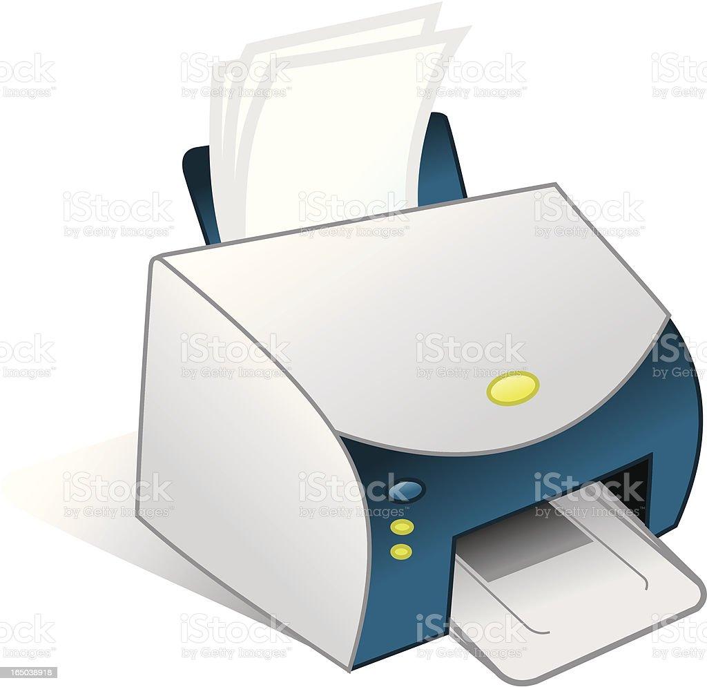 Impresora: Imprimir documento - ilustración de arte vectorial