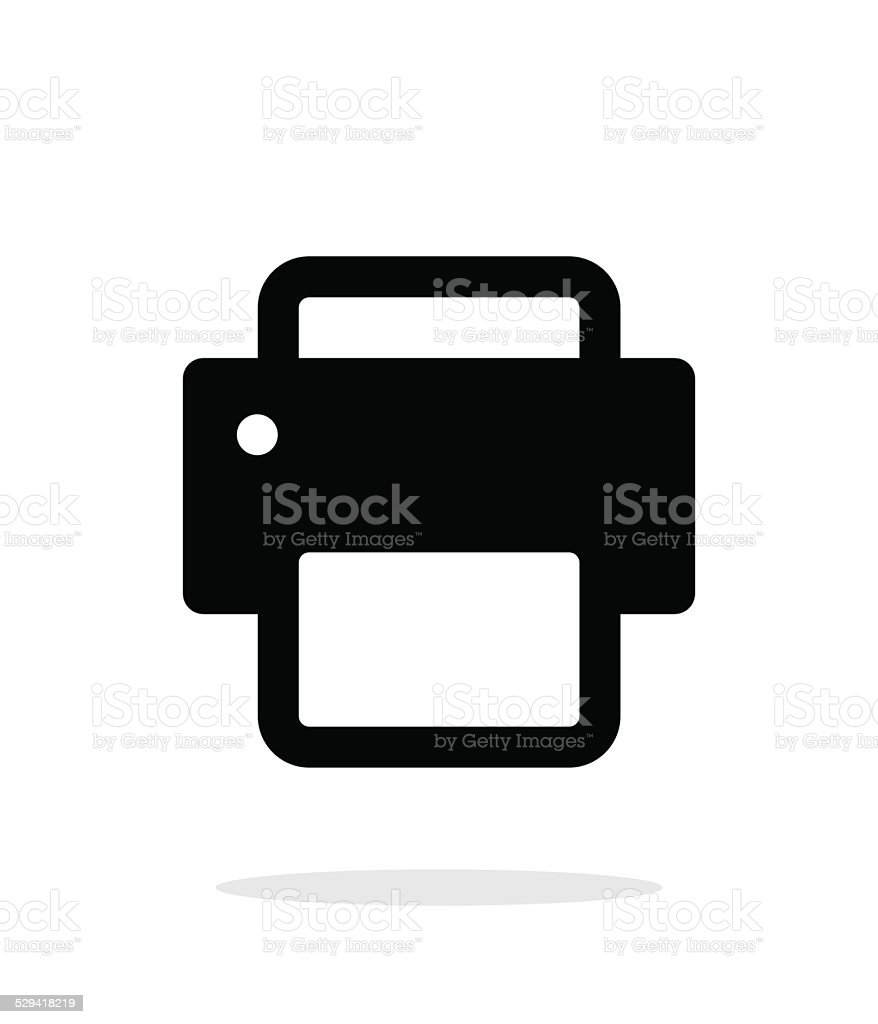 Printer icon on white background. vector art illustration