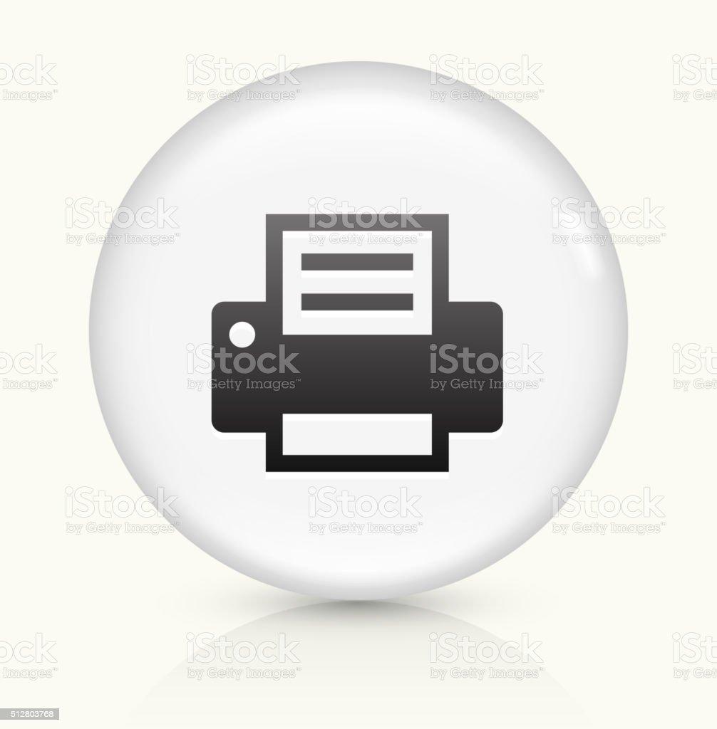 Printer icon on white round vector button vector art illustration