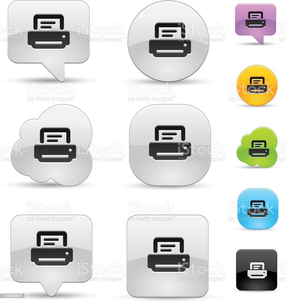 Printer icon set royalty-free stock vector art