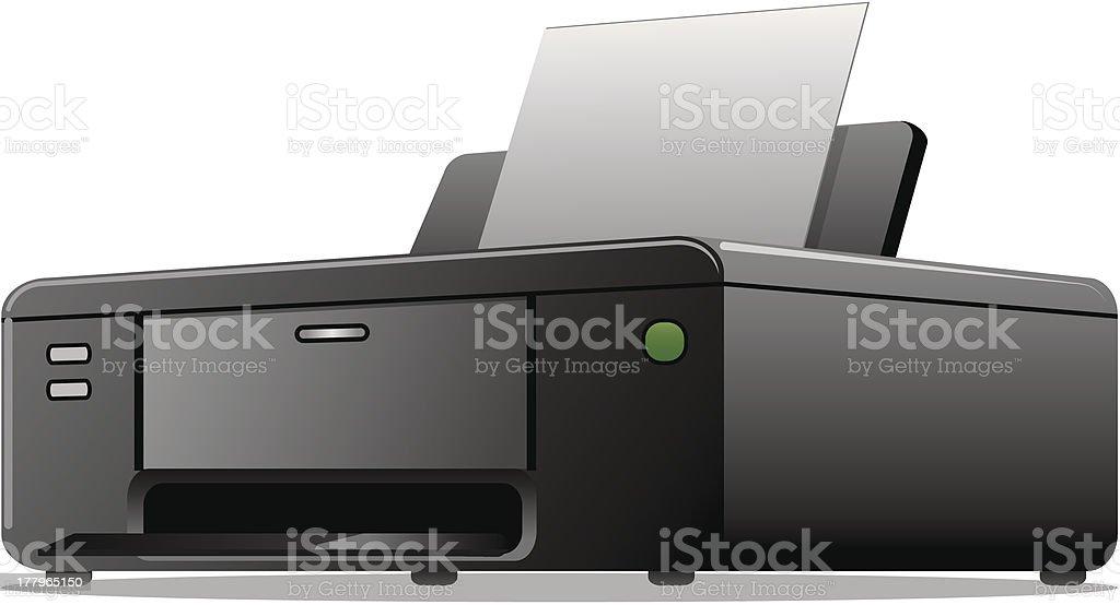 printer icon royalty-free stock vector art