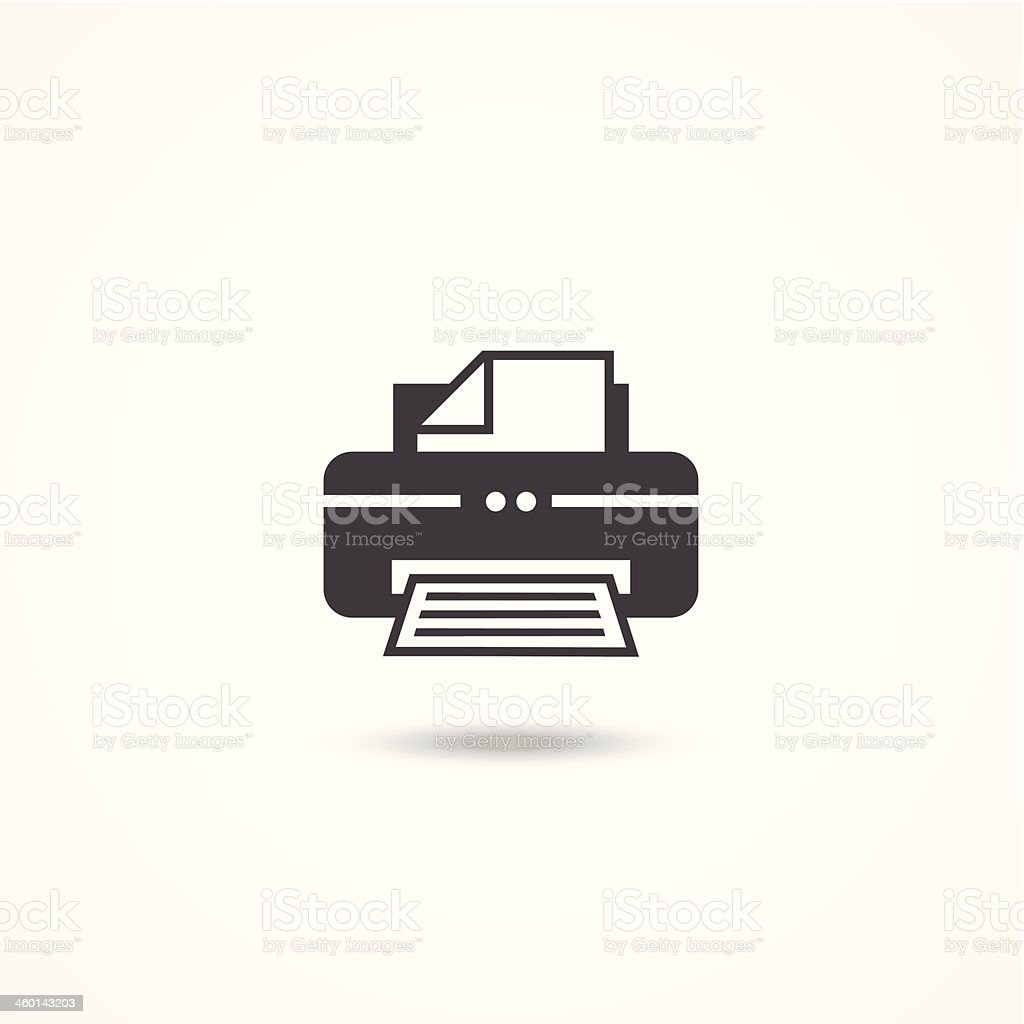 Printer icon vector art illustration